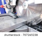 miter saw. cutting of aluminum... | Shutterstock . vector #707265238