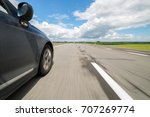 the car moves at high speed at... | Shutterstock . vector #707269774