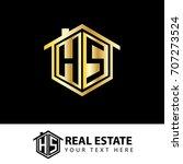 initial letter h  s  hs house... | Shutterstock .eps vector #707273524