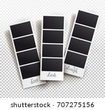 square frame template with... | Shutterstock .eps vector #707275156