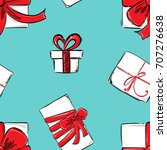 vector seamless pattern with... | Shutterstock .eps vector #707276638