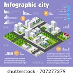 isometric city map industry | Shutterstock . vector #707277379