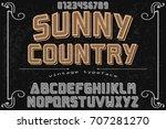 vintage font handcrafted vector ... | Shutterstock .eps vector #707281270