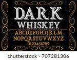 vintage font handcrafted vector ... | Shutterstock .eps vector #707281306