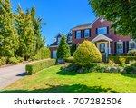 luxury house in vancouver ...   Shutterstock . vector #707282506