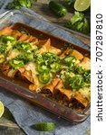 homemade beef enchiladas with... | Shutterstock . vector #707287810