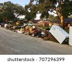 debris from hurricane harvey... | Shutterstock . vector #707296399