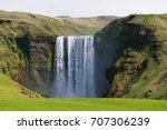 skogafoss waterfall. natural...   Shutterstock . vector #707306239