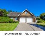 luxury house in vancouver ... | Shutterstock . vector #707309884