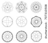geometric pattern symbols... | Shutterstock .eps vector #707310508
