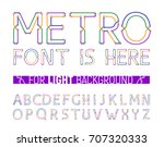 colorful metro styled font for... | Shutterstock .eps vector #707320333