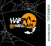 happy halloween vector banner ... | Shutterstock .eps vector #707330824