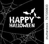 happy halloween vector banner ...   Shutterstock .eps vector #707330833