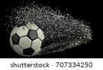 soccer ball with particles. 3d... | Shutterstock . vector #707334250