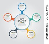 infographic element vector with ... | Shutterstock .eps vector #707335948