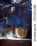 boil salt  lapping crystallized ...   Shutterstock . vector #707351188