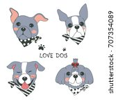 Hand Drawn Vector Dog Cute...