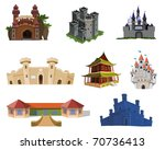landmarks and attractions  ... | Shutterstock . vector #70736413
