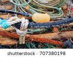 crabbing nets filled with all... | Shutterstock . vector #707380198