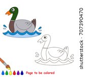 duck to be colored  the... | Shutterstock .eps vector #707390470