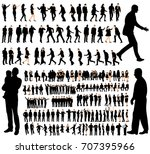 isolated  set of people ... | Shutterstock . vector #707395966