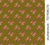 new color seamless pattern with ... | Shutterstock .eps vector #707408170
