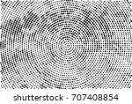 halftone radial black and white.... | Shutterstock . vector #707408854