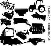 agricultural machinery... | Shutterstock .eps vector #70740967