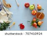 rosh hashanah  jewish new year... | Shutterstock . vector #707410924