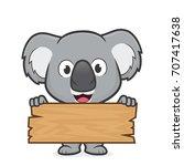 Koala Holding A Plank Of Wood