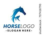 two horse logo vector | Shutterstock .eps vector #707418790