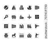 toys vector icon set in glyph... | Shutterstock .eps vector #707419750