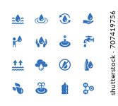 water related vector icon set... | Shutterstock .eps vector #707419756