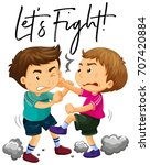 phrase let's fight with two... | Shutterstock .eps vector #707420884