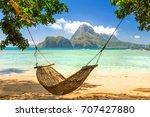 traditional braided hammock in...   Shutterstock . vector #707427880