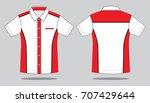uniforms shirt design   white...   Shutterstock .eps vector #707429644