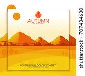 autumn landscape background... | Shutterstock .eps vector #707434630