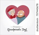 happy grandparents day.vector...   Shutterstock .eps vector #707443678