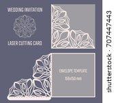 diy laser cutting vector... | Shutterstock .eps vector #707447443
