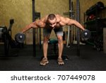 a full length photo of a brutal ... | Shutterstock . vector #707449078
