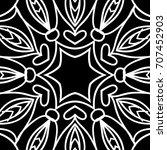 oriental floral pattern.  ... | Shutterstock . vector #707452903