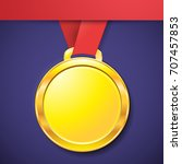 medal gold | Shutterstock . vector #707457853