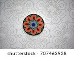 korean traditional patterns and ...   Shutterstock . vector #707463928