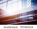 closeup of glass wall of modern ... | Shutterstock . vector #707465224