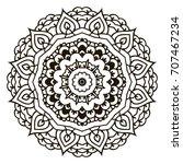 mandala. black and white... | Shutterstock .eps vector #707467234