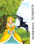 cartoon fairy tale scene with a ... | Shutterstock . vector #707469379