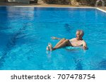 vacation by senior man playing... | Shutterstock . vector #707478754