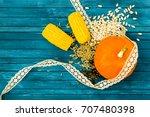 Thanksgiving Concept. Orange...