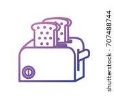 line toaster technology kitchen ...   Shutterstock .eps vector #707488744