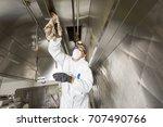 commercial kitchen worker... | Shutterstock . vector #707490766